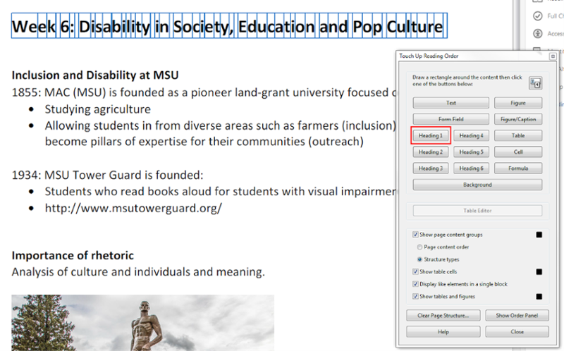 Accessible PDFs | Web Accessibility | Michigan State University