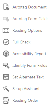 Reading order from Accessibility tools.
