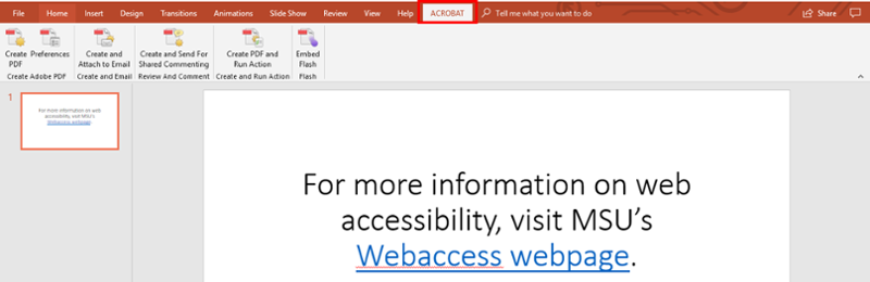 Microsoft PowerPoint Accessibility | Web Accessibility