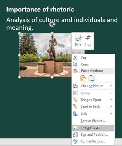 Microsoft PowerPoint Accessibility   Web Accessibility