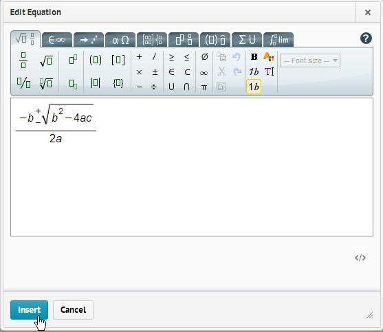 Mathematical Expressions & MathML in D2L   Web Accessibility
